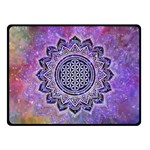 Flower Of Life Indian Ornaments Mandala Universe Fleece Blanket (Small) 50 x40 Blanket Front