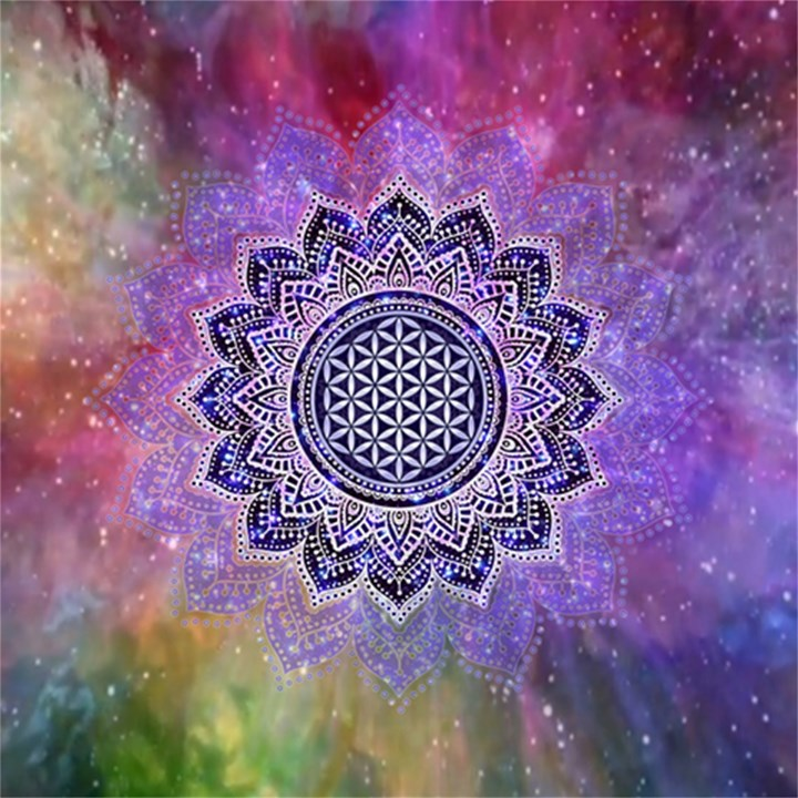 Flower Of Life Indian Ornaments Mandala Universe Magic Photo Cubes