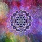 Flower Of Life Indian Ornaments Mandala Universe Magic Photo Cubes Side 3