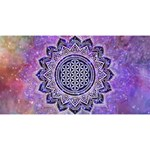 Flower Of Life Indian Ornaments Mandala Universe Magic Photo Cubes Long Side 1