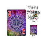 Flower Of Life Indian Ornaments Mandala Universe Playing Cards 54 (Mini)  Front - Heart10