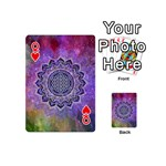 Flower Of Life Indian Ornaments Mandala Universe Playing Cards 54 (Mini)  Front - HeartQ