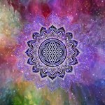 Flower Of Life Indian Ornaments Mandala Universe Storage Stool 12   Top