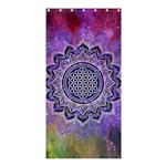 Flower Of Life Indian Ornaments Mandala Universe Shower Curtain 36  x 72  (Stall)  33.26 x66.24 Curtain
