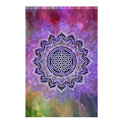 Flower Of Life Indian Ornaments Mandala Universe Shower Curtain 48  x 72  (Small)