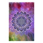 Flower Of Life Indian Ornaments Mandala Universe Shower Curtain 48  x 72  (Small)  48 x72 Curtain