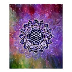 Flower Of Life Indian Ornaments Mandala Universe Shower Curtain 60  x 72  (Medium)