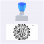 Flower Of Life Indian Ornaments Mandala Universe Rubber Stamps (Medium)  1.34 x0.71  Stamp