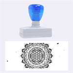 Flower Of Life Indian Ornaments Mandala Universe Rubber Stamps (Large) 2.26 x1.05  Stamp