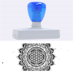 Flower Of Life Indian Ornaments Mandala Universe Rubber Address Stamps (XL)
