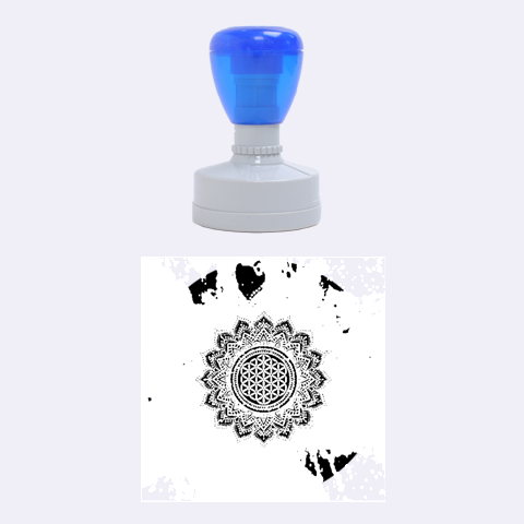 Flower Of Life Indian Ornaments Mandala Universe Rubber Round Stamps (Medium)