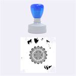 Flower Of Life Indian Ornaments Mandala Universe Rubber Round Stamps (Medium) 1.5 x1.5  Stamp
