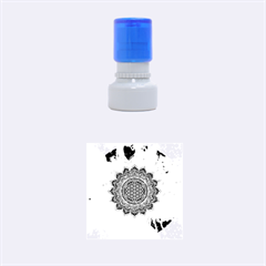 Flower Of Life Indian Ornaments Mandala Universe Rubber Round Stamps (small)