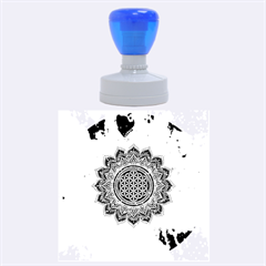 Flower Of Life Indian Ornaments Mandala Universe Rubber Round Stamps (large)