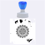 Flower Of Life Indian Ornaments Mandala Universe Rubber Round Stamps (Large) 1.875 x1.875  Stamp