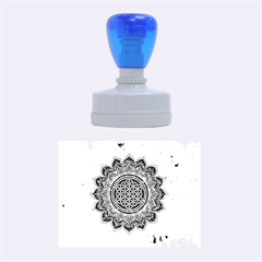 Flower Of Life Indian Ornaments Mandala Universe Rubber Oval Stamps