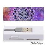 Flower Of Life Indian Ornaments Mandala Universe Memory Card Reader (Stick)  Front