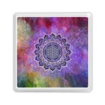 Flower Of Life Indian Ornaments Mandala Universe Memory Card Reader (Square)  Front