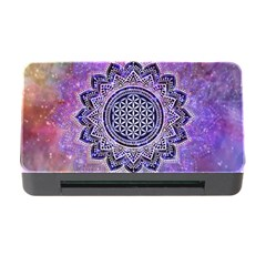 Flower Of Life Indian Ornaments Mandala Universe Memory Card Reader With Cf