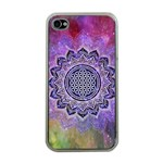Flower Of Life Indian Ornaments Mandala Universe Apple iPhone 4 Case (Clear) Front