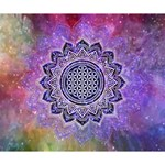 Flower Of Life Indian Ornaments Mandala Universe Deluxe Canvas 14  x 11  14  x 11  x 1.5  Stretched Canvas