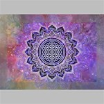 Flower Of Life Indian Ornaments Mandala Universe Deluxe Canvas 18  x 12   18  x 12  x 1.5  Stretched Canvas