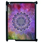 Flower Of Life Indian Ornaments Mandala Universe Apple iPad 2 Case (Black) Front
