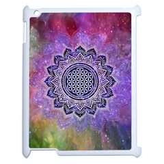 Flower Of Life Indian Ornaments Mandala Universe Apple iPad 2 Case (White)