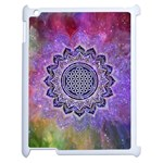 Flower Of Life Indian Ornaments Mandala Universe Apple iPad 2 Case (White) Front