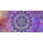Flower Of Life Indian Ornaments Mandala Universe Happy Birthday 3D Greeting Card (8x4) Front
