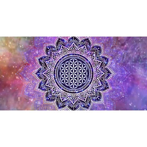 Flower Of Life Indian Ornaments Mandala Universe YOU ARE INVITED 3D Greeting Card (8x4)