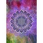Flower Of Life Indian Ornaments Mandala Universe Heart Bottom 3D Greeting Card (7x5) Inside