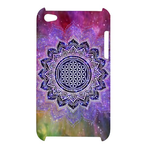Flower Of Life Indian Ornaments Mandala Universe Apple iPod Touch 4