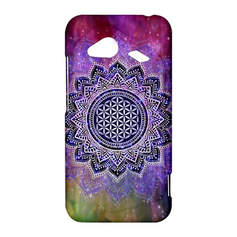 Flower Of Life Indian Ornaments Mandala Universe HTC Droid Incredible 4G LTE Hardshell Case