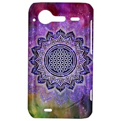 Flower Of Life Indian Ornaments Mandala Universe HTC Incredible S Hardshell Case