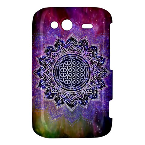 Flower Of Life Indian Ornaments Mandala Universe HTC Wildfire S A510e Hardshell Case