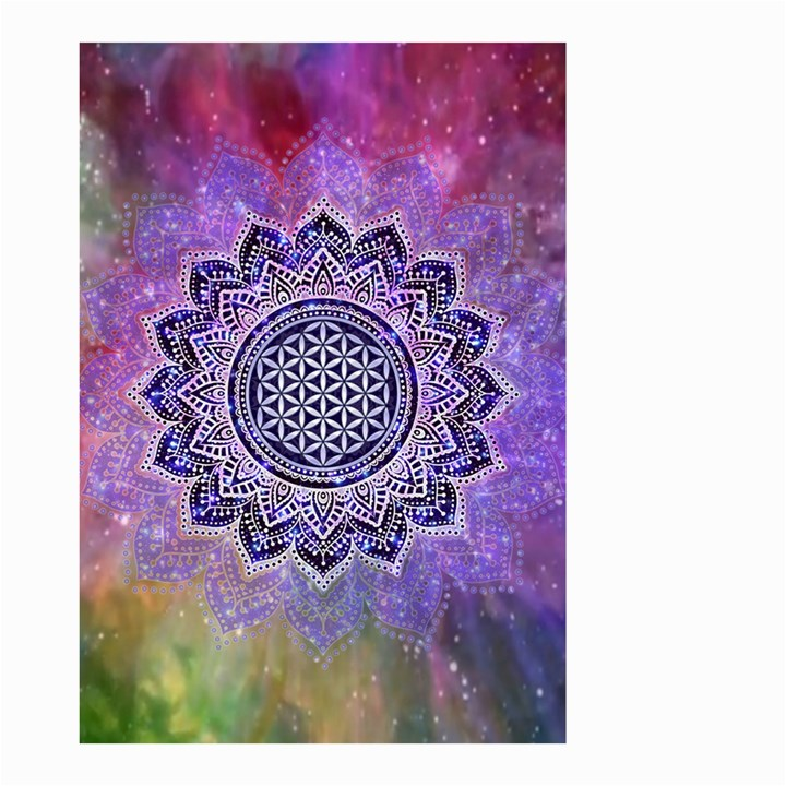 Flower Of Life Indian Ornaments Mandala Universe Small Garden Flag (Two Sides)