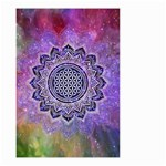 Flower Of Life Indian Ornaments Mandala Universe Small Garden Flag (Two Sides) Back