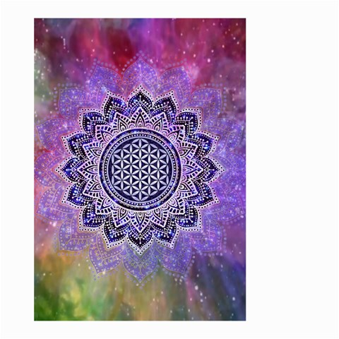Flower Of Life Indian Ornaments Mandala Universe Large Garden Flag (Two Sides)