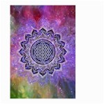 Flower Of Life Indian Ornaments Mandala Universe Large Garden Flag (Two Sides) Back