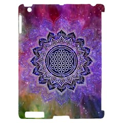 Flower Of Life Indian Ornaments Mandala Universe Apple iPad 2 Hardshell Case (Compatible with Smart Cover)