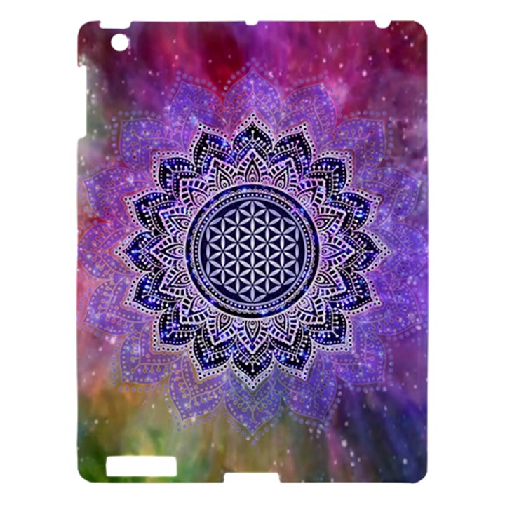Flower Of Life Indian Ornaments Mandala Universe Apple iPad 3/4 Hardshell Case