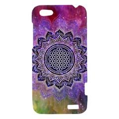 Flower Of Life Indian Ornaments Mandala Universe HTC One V Hardshell Case