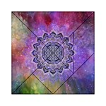 Flower Of Life Indian Ornaments Mandala Universe Acrylic Tangram Puzzle (6  x 6 ) Front