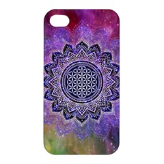 Flower Of Life Indian Ornaments Mandala Universe Apple Iphone 4/4s Premium Hardshell Case