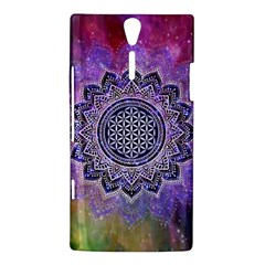 Flower Of Life Indian Ornaments Mandala Universe Sony Xperia S