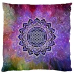 Flower Of Life Indian Ornaments Mandala Universe Large Cushion Case (Two Sides) Back