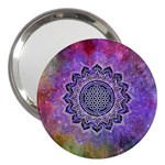 Flower Of Life Indian Ornaments Mandala Universe 3  Handbag Mirrors Front