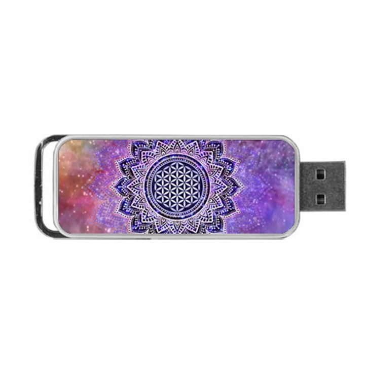Flower Of Life Indian Ornaments Mandala Universe Portable USB Flash (Two Sides)