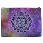 Flower Of Life Indian Ornaments Mandala Universe Cosmetic Bag (XXL)  Back
